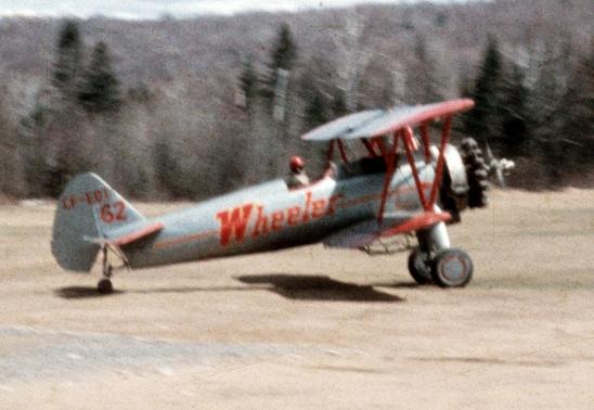 Wheeler Stearman parked