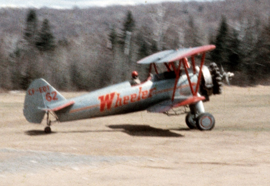 Wheeler Stearman parked