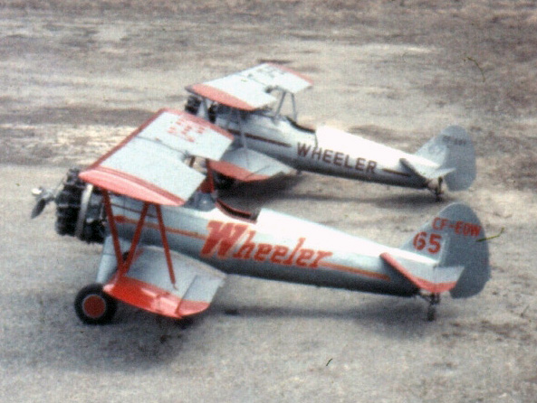 Wheeler Stearmans parked