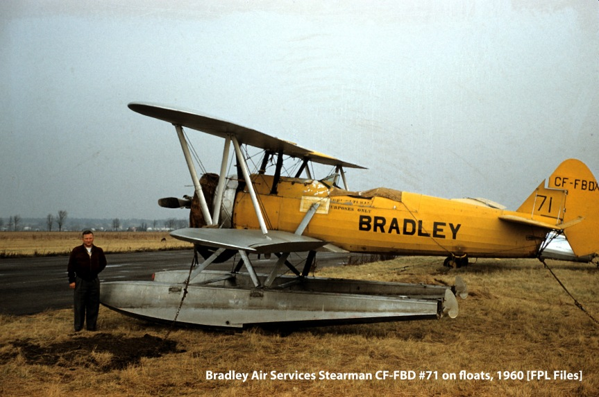 Bradley Stearman CF-FBD on floats, 1960