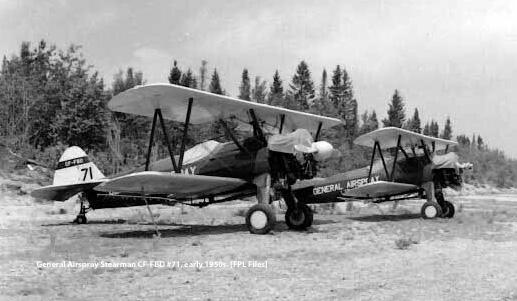 General Airspray Stearmans parked
