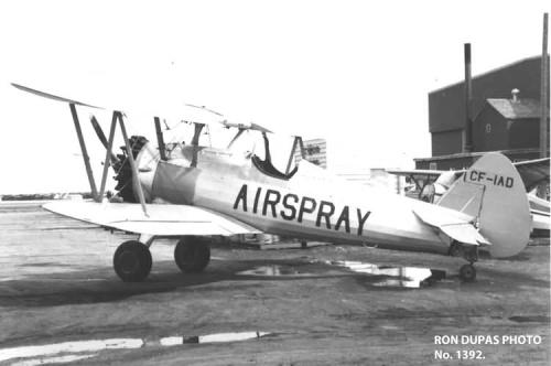 RON DUPAS PHOTO No. 1392. Stearman 75 PT-13 (CF-IAD) Photographed at Edmonton, Alberta, Canada http://1000aircraftphotos.com/Biplanes/Stearman/1392.htm