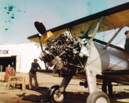 Tom Wilson, pers. comm. CF-JLS Skyway, 28 May 1957, Laurentide Aviation, Cartierville, Quebec. Tom Wilson is at the wingtip.
