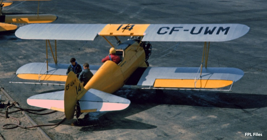 Stearmans in the pits, Juniper NB, Jun 1967