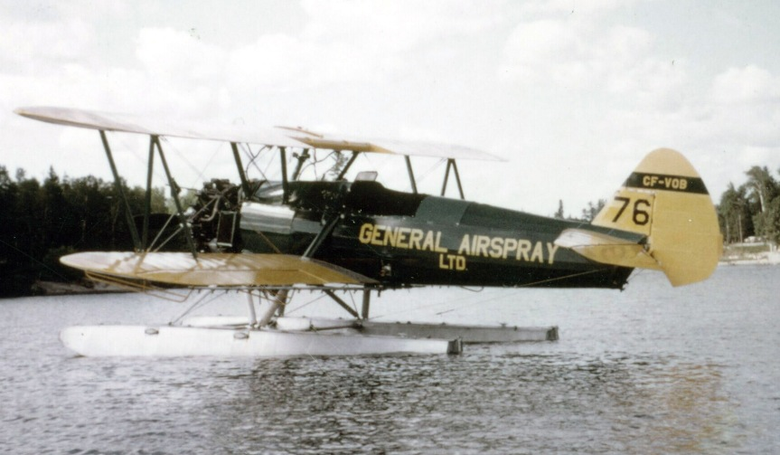 General Airspray Stearman on floats