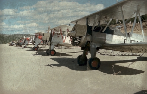 Central Stearmans at Green River NB, 1955