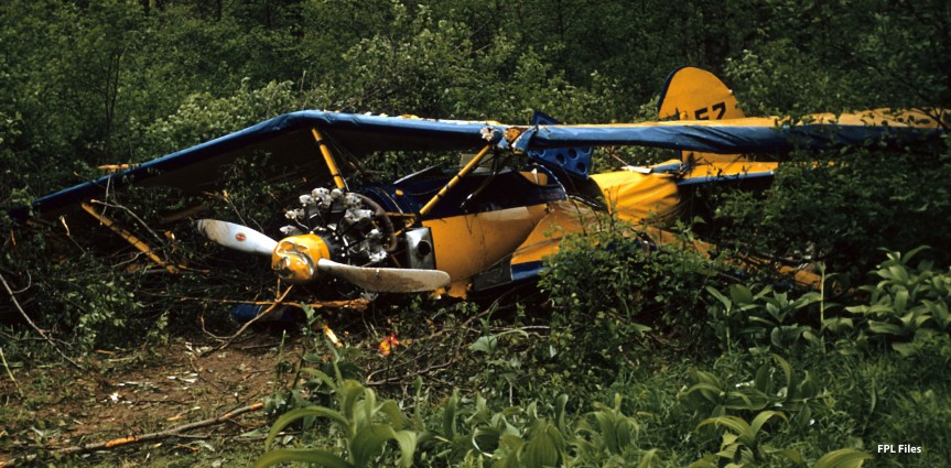 Stearman wreckage