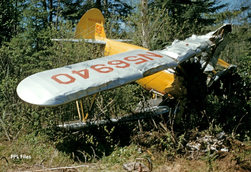 Stearman #59 N56940 wreckage
