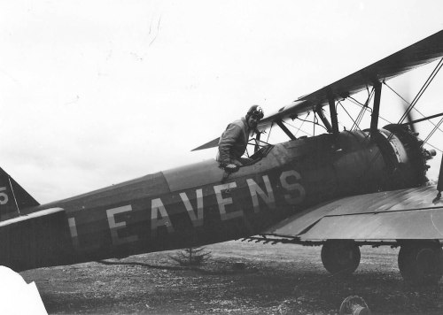 Leavans Stearman parked