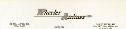 Wheeler Airlines letterhead 1959