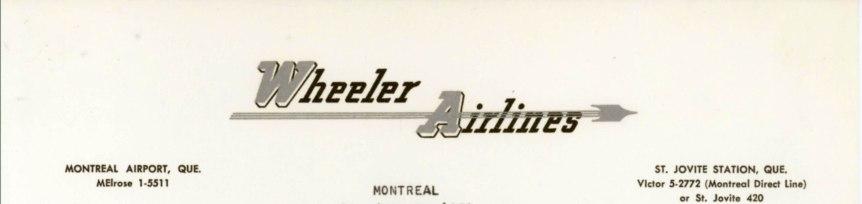 Wheeler Airlines letterhead 1959