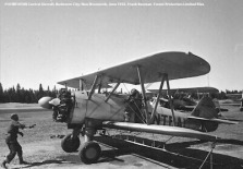 #10 N1054N Central Aircraft. Budworm City, New Brunswick, June 1952. Bauman series, Forest Protection Limited files.