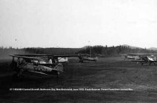 #11 N56464 Central Aircraft. Budworm City, New Brunswick, June 1952. Bauman series, Forest Protection Limited files. Unfortunately the best image we have of #11.