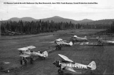 The recently identified #12 N1312N Central Aircraft. Budworm City, New Brunswick, June 1952. Bauman series, Forest Protection Limited files.