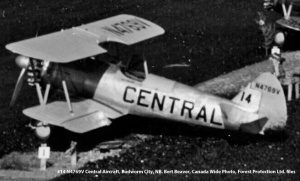 #14 N4769V Central Aircraft. Budworm City, New Brunswick, June 1952. D.C. Anderson photo, Forest Protection Limited files.