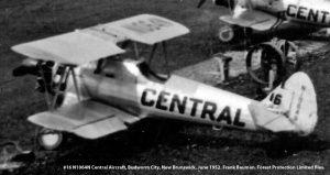#16 N1064N Central Aircraft. Budworm City, New Brunswick, June 1952. Bauman series, Forest Protection Limited files.