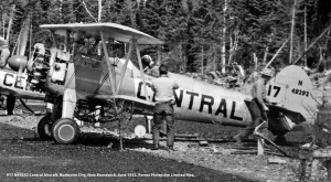 #17 N49292 Central Aircraft. Budworm City, New Brunswick, June 1952. Forest Protection Limited files. D.C. Anderson photo.