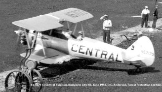 #3 N57173 Central Aircraft. Budworm City, New Brunswick, June 1952. D.C. Anderson, Forest Protection Limited files.