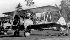 #13 N5155N with cat and logo on tail. 1953? FPL files