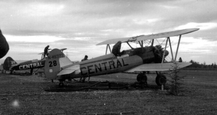 - #28 N49377 and #20 N4811V - Image by Dwight Dolan at Nictau, New Brunswick, 7-13 June 1953. FPL files.