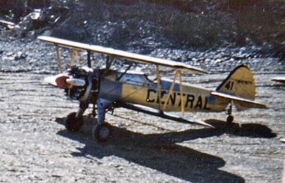 - #41 N4787V - Stearmans at Boston Brook airstrip, 1953, Mac McGlothin image.