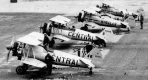 - #46 N49292, #8 N1262N and two Wheeler Stearmans - Image taken by Richard Arless at Nictau, New Brunswick, between 27 May and 2 June, 1953.