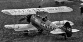 """- #50 68181? showing """"CALI-?"""" on upper left wing - Stearmans parked at Budworm City, NB, in 1953. FPL files."""