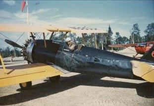 - #68 N9955H Ueding Flying Service - Stearmans at Boston Brook airstrip, 1953, Mac McGlothin image.