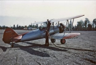 - #69 N54945 Ueding Flying Service - Stearmans at Boston Brook airstrip, 1953, Mac McGlothin image.
