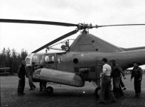 Royal Canadian Navy Sikorsky S-51 Helicopter, Nictau Airstrip. Dwight Dolan, Nictau, New Brunswick, 7-13 June 1953.